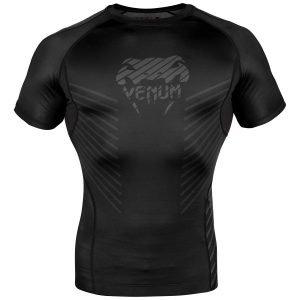 Venum Plasma Rash Guard Short Sleeve Black Black
