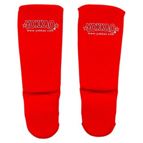YOKKAO Kids Shinguards Cotton Red