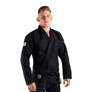 Manto Base BJJ Gi Black Grey V1 + White Belt