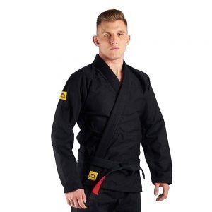 Manto Base BJJ Gi Black Yellow V2 + White Belt