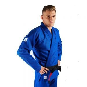 Manto Base BJJ Gi Blue White V1 + White Belt