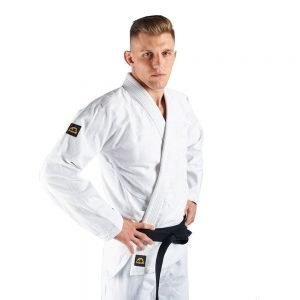 Manto Base BJJ Gi White Black V1 + White Belt