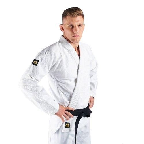 Manto Base BJJ Gi White Black V1 + White Belt