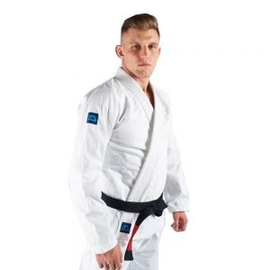 Manto Base BJJ Gi White Blue V2 + White Belt