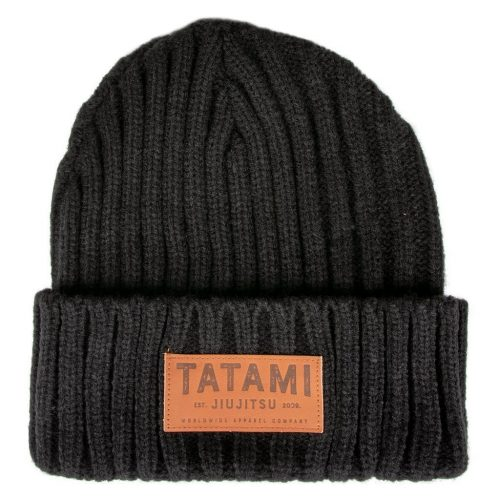 Tatami Folded Beanie Hat Black