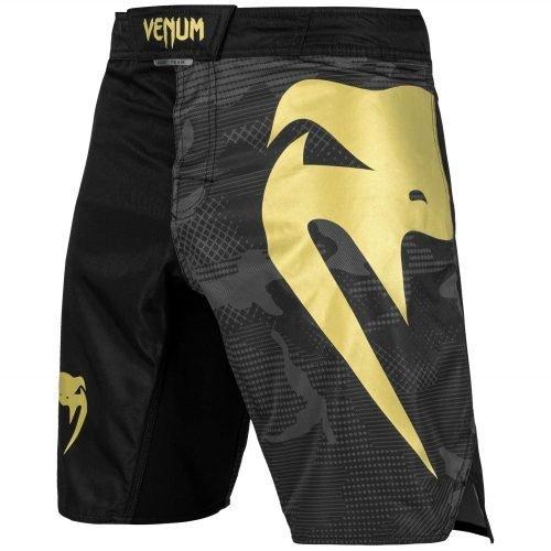 Venum Light 3.0 Fight Shorts Black Camo Gold