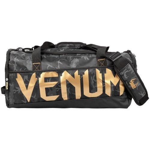 Venum Sparring Sport Bag Black Camo Gold