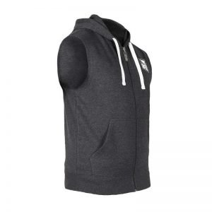 Bad Boy Core Sleeveless Hoodie Dark Grey