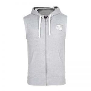 Bad Boy Core Sleeveless Hoodie Light Grey