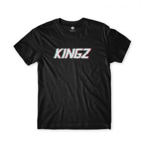 Kingz Glitched Logo Tee Black