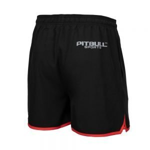 Pitbull Sports West Coast Mens Performance Shorts Black Red