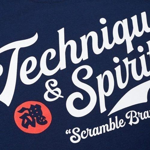 Scramble Technique and Spirit T-Shirt Navy