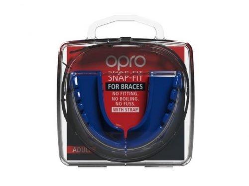 OPRO Adult Mouth Guard Snap Fit Braces Blue