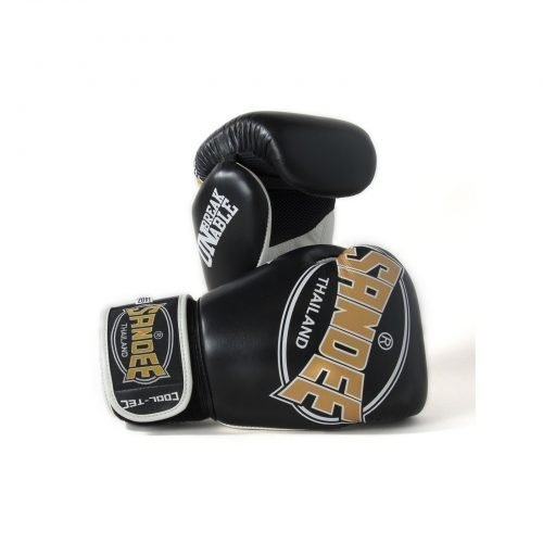 Sandee Cool-Tec Boxing Gloves Black Gold