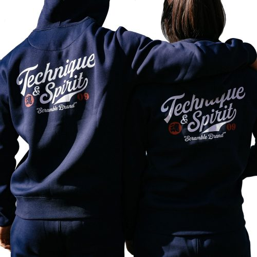 Scramble Technique and Spirit Pullover Hoodie Navy Scramble Technique and Spirit Zip Hoodie Navy
