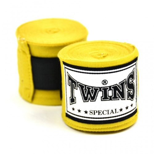 Twins CH5 Premium Elastic 5m Handwraps Yellow