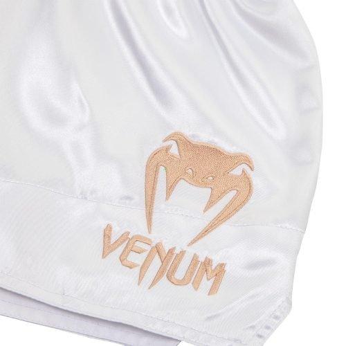 Venum Muay Thai Shorts Classic White Gold