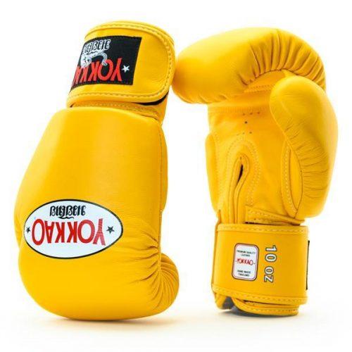 Yokkao Matrix Muay Thai Boxing Gloves gold fusion