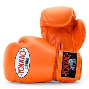 Yokkao Matrix Muay Thai Boxing Gloves Tiger Orange