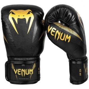 Venum Impact Boxing Gloves Black Gold