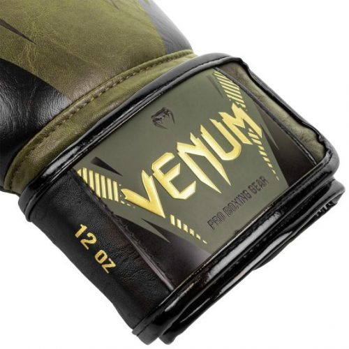 Venum Impact Boxing Gloves Khaki Gold