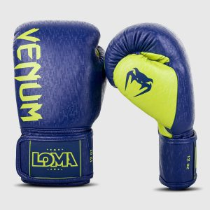 Venum Origins Boxing Gloves Loma Edition Blue Neon Yellow