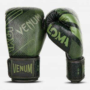 Venum Commando Boxing Gloves Loma Edition Black Green 4