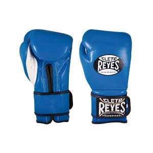 Cleto Reyes Wrap Around Velcro Sparring Gloves Electric Blue