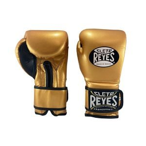 Cleto Reyes Wrap Around Velcro Sparring Gloves Solid Gold