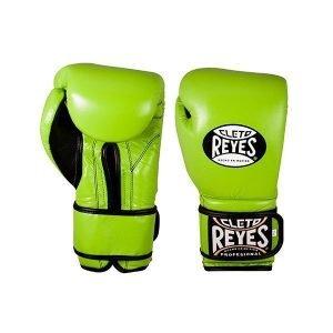 Cleto Reyes Wrap Around Velcro Sparring Gloves Citrus Green