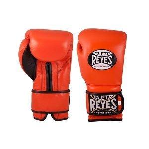 Cleto Reyes Wrap Around Velcro Sparring Gloves Tiger Orange