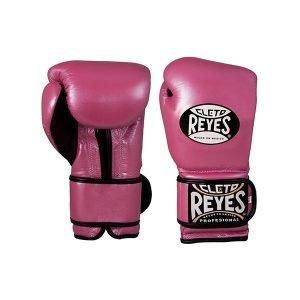 Cleto Reyes Wrap Around Velcro Sparring Gloves Pink