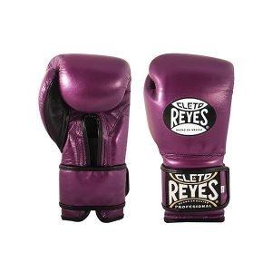 Cleto Reyes Wrap Around Velcro Sparring Gloves Metallic Purple