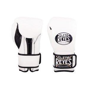 Cleto Reyes Wrap Around Velcro Sparring Gloves White