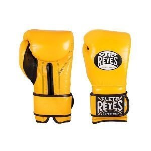 Cleto Reyes Wrap Around Velcro Sparring Gloves Brilliant Yellow