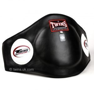 Twins BEPL2 Black Leather Belly Pad