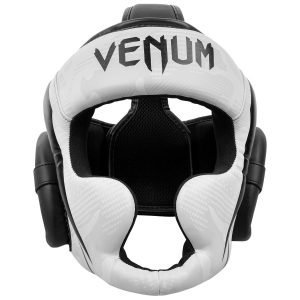 Venum Elite Head Guard White Camo