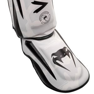 Venum Elite Shin Guards White Camo