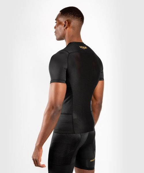 Venum G-Fit Rash Guard Short Sleeve Black Gold