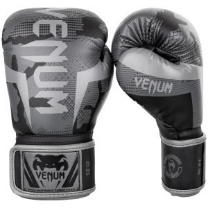 Venum Elite Boxing Gloves Black Dark Camo