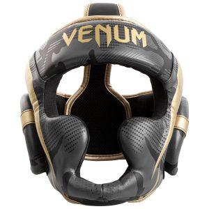 Venum Elite Head Guard Dark Camo Gold