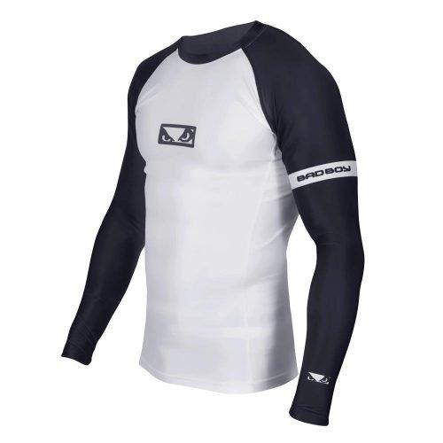 Bad Boy OSS Grappling Rash Guard Long Sleeve White Black