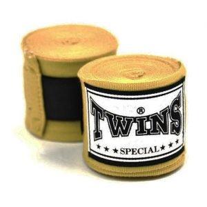 Twins CH5 Premium Elastic 5m Handwraps Gold
