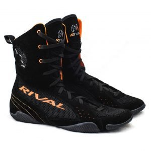 Rival Classic Hi-Top Boxing Boots RSX-ONE Black Orange