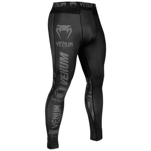 Venum Logos Spats Black Black