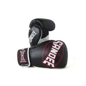 Sandee Cool-Tec Boxing Gloves Black White Red