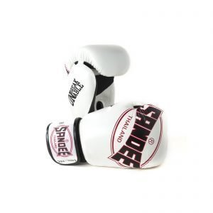 Sandee Cool-Tec Boxing Gloves White Black Red