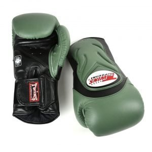 Twins BGVL6 Deluxe Sparring Gloves Olive Green Black