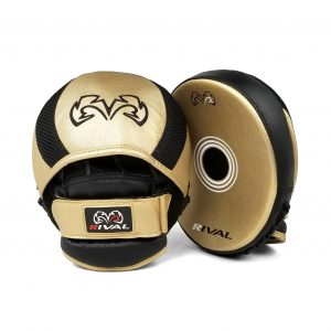 Rival RPM11 Evolution Punch Mitts Gold Black
