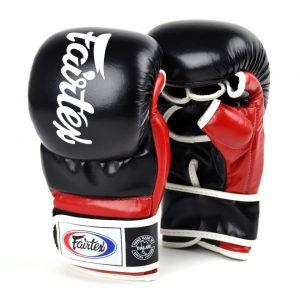 Fairtex FGV18 Black Red Super Sparring MMA Gloves